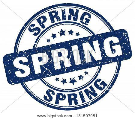 spring blue grunge round vintage rubber stamp.spring stamp.spring round stamp.spring grunge stamp.spring.spring vintage stamp.