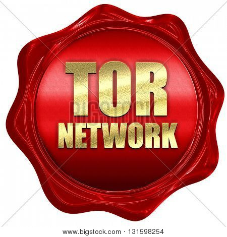 tor network, 3D rendering, a red wax seal