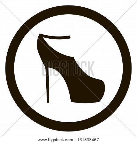 Women sign. Women's shoe icon. High heels shoe symbol. Vector illustration