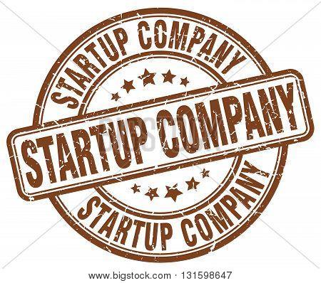 startup company brown grunge round vintage rubber stamp.startup company stamp.startup company round stamp.startup company grunge stamp.startup company.startup company vintage stamp.