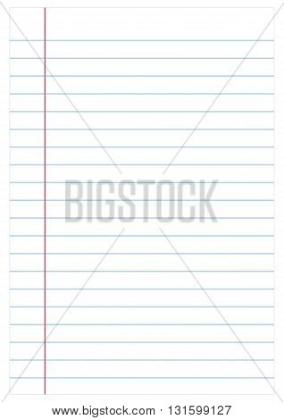 Notebook paper background vector illustration, eps 10