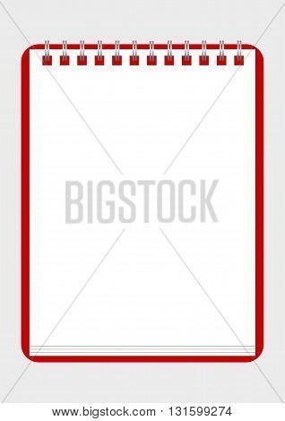 realistic stylish notebook, vector illustration, eps 10