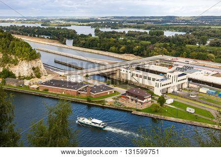Albert Canal, from Fort Eben-Emael in Belgium