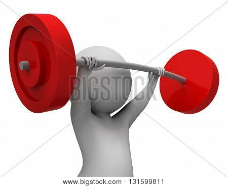 Weight Lifting Represents Physical Activity And Empowerment 3D Rendering