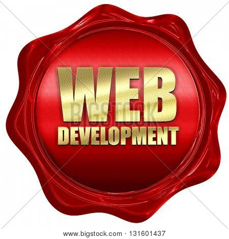 web development, 3D rendering, a red wax seal