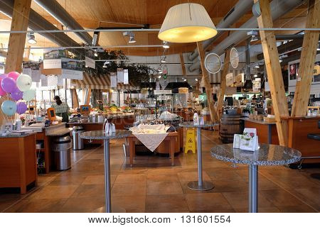 PENTLING, GERMANY - JUNE 07: Self-service highway restaurant in Kammern, Austria on June 07, 2015.
