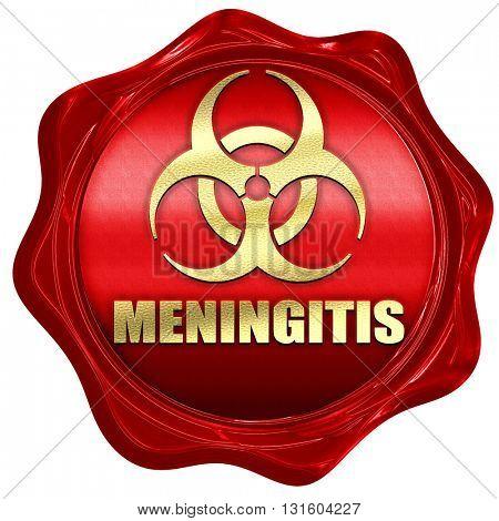 Meningitis virus concept background, 3D rendering, a red wax sea