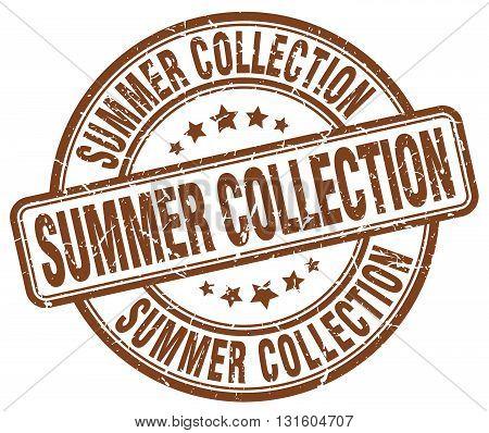 summer collection brown grunge round vintage rubber stamp.summer collection stamp.summer collection round stamp.summer collection grunge stamp.summer collection.summer collection vintage stamp.