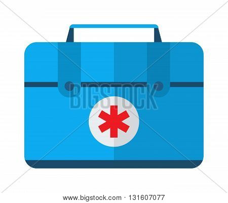 Safety car medical kit set isolated on white background. Car medical kit vector and health car medical kit design. Healthcare ambulance icon case safety car medical kit. Transportation warning care.