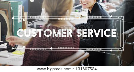 Customer Service Support Work Advice Concept
