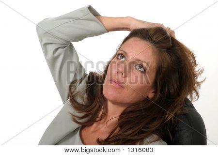 Relaxing Business Woman