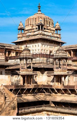 Jahangir Mahal tower in Orchha, Madhya Pradesh, India