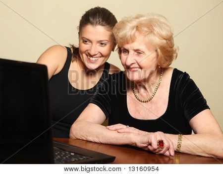 Senior Lady On The Computer