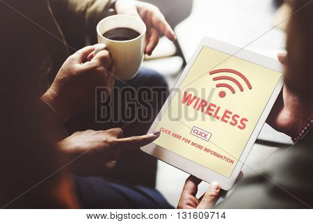 Wireless Technology Online Internet Concept