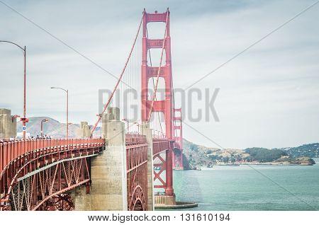 San Francisco, Ca, Eua - July 01 2015: Golden Gate Bridge, San Francisco, California, Usa.