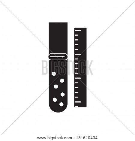 Flat icon in black and  white chemical flask
