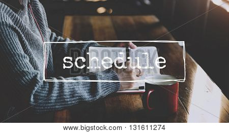 Schedule Activity Appointment Agenda Graphic Concept