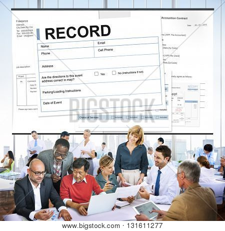 Record Agreement Contract Legal Document Concept