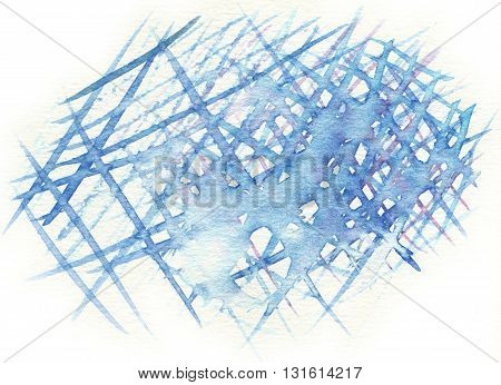 the blue crossing abstract watercolor pattern background
