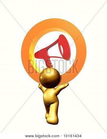 Loudspeaker icon symbol