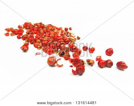 Dried red pepper, isolated on white background