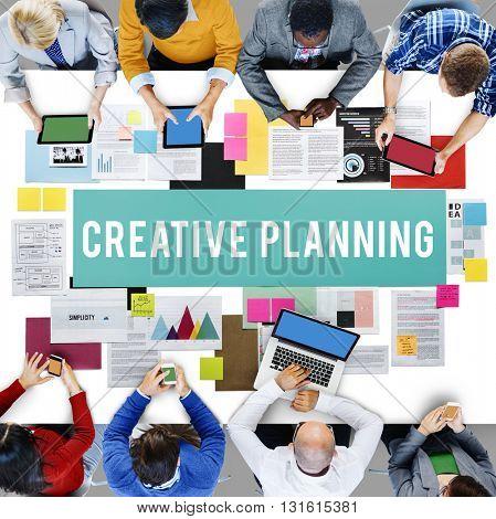 Creative Planning Process Evaluation Ideas Insight Concept