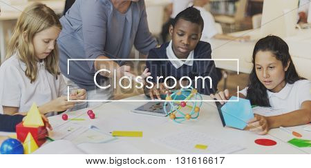 Classroom Lesson Education Brainstorming Thinking Concept