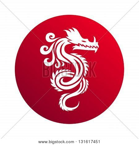 Red paper dragon china zodiac symbols. Chinese dragon vector and red chinese dragon art. Chinese dragon symbol culture traditional art design. Chinese dragon animal decoration ancient tradition.