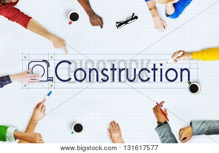 Construction Engineering Equipment Industrial Concept