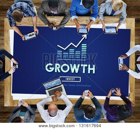 Growth Business Launch Success Improvement Concept