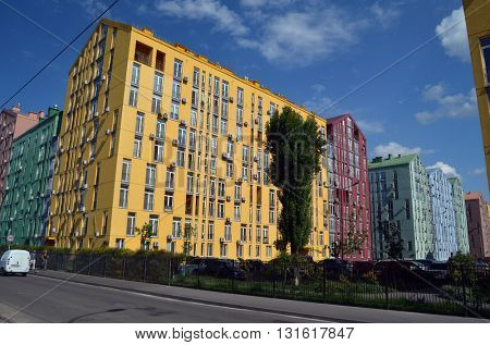KIEV, UKRAINE -MAY 23, 2016. Typical modern residential building May 23, 2016 in Kiev, Ukraine