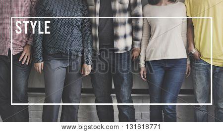 Unique Style Fashion individuality Identity Concept