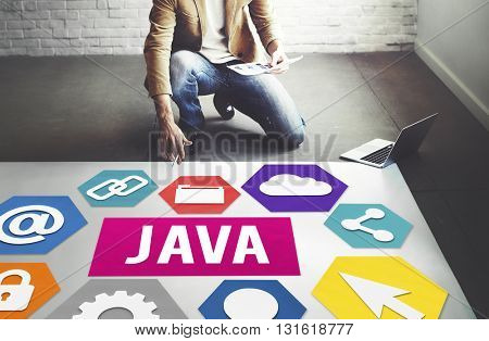 Java HTML Website Information Data Concept