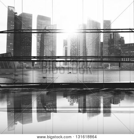 Building Urban District Metropolitan Town Concept