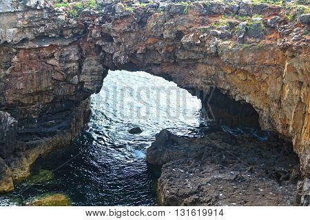 cave on the Atlantic coast, Boca do Inferno.