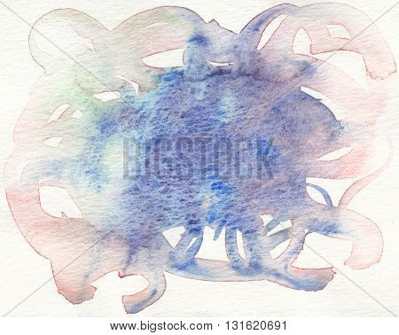 watercolor abstract grunge textures blue tones background