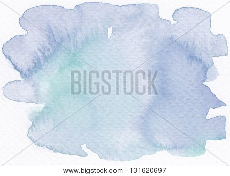 blue green light tones abstract wet watercolor background