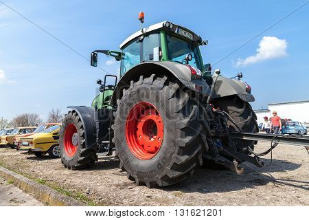 ALTENTREPTOW / GERMANY - MAY 1 2016: german fendt tractor stands on an oldtimer show in altentreptow germany at may 1 2016.
