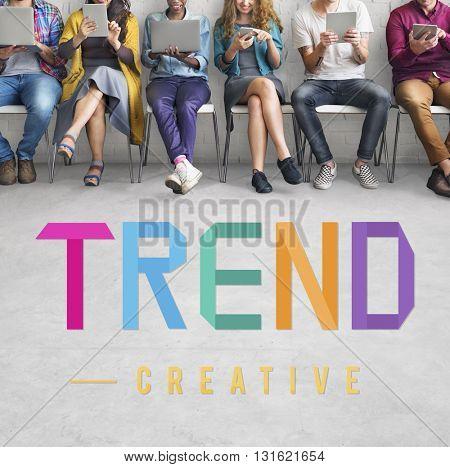 Trend Trending Trendy Fashion Forecast Design Concept