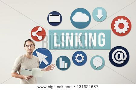 Linking Internet Connection Website Concept