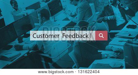 Customer Feedback Client Interaction Satisfaction Concept