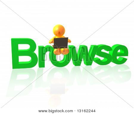 Gold icon friend browsing internet