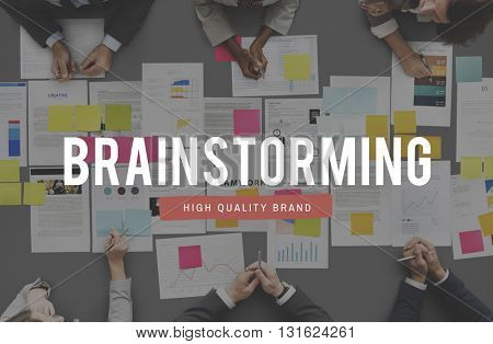 Brainstorming Analysis Think Sharing Ideas Concept