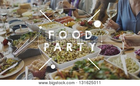Food Party Cuisine Culinary Gourmet Catering Concept