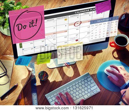 Do It Encouragment Motivation Progress Concept