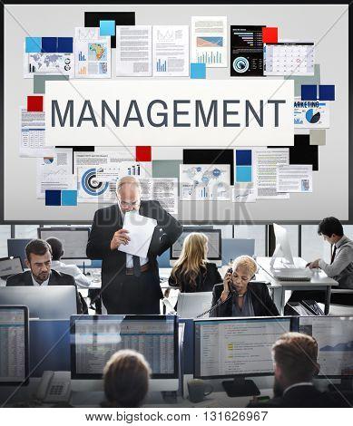 Management Coaching Organization Process Concept