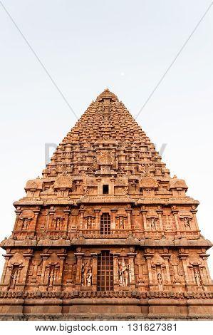 Tower in Brihadeshwara Temple, Thanjavur (Tanjore), India