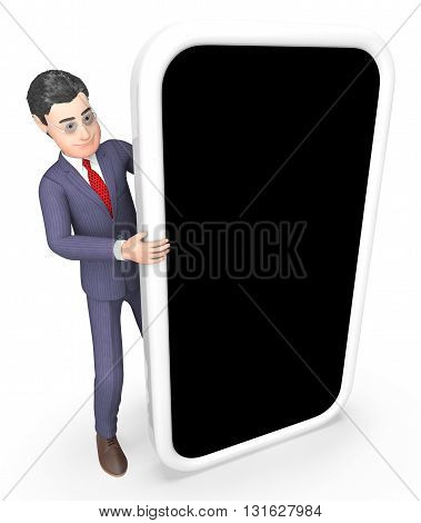 Businessman Copyspace Indicates World Wide Web And Searching 3D Rendering