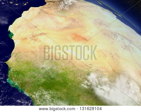 Mali And Senegal From Space