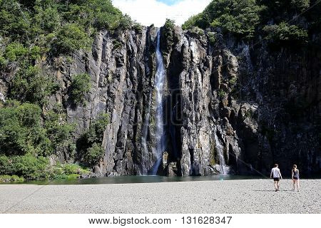 SAINTE MARIE LA REUNION FRANCE : Niagara fall Sainte Marie La Reunion island Indian Ocean april 23 2016 in Sainte Marie France